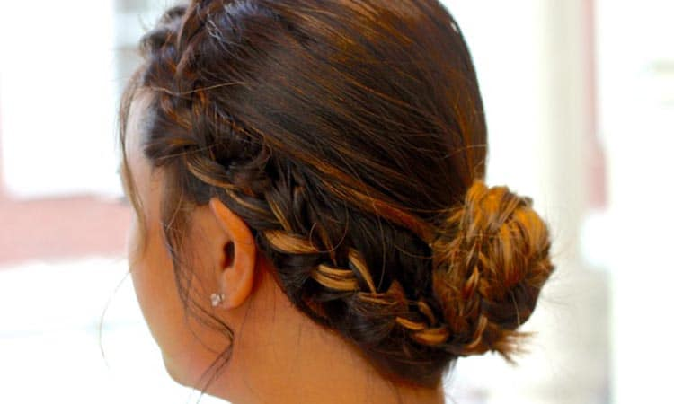 Side Braided Buns