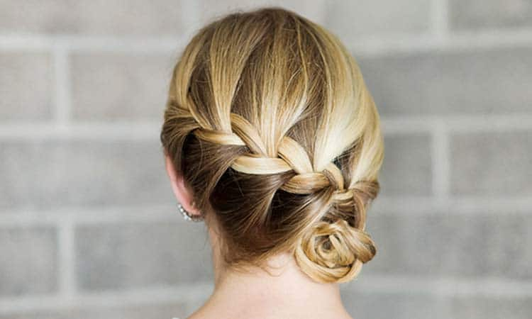 Side Braid Bun Hairstyle