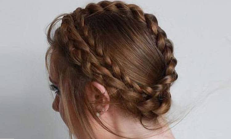Swedish Crown Braid Hairstyle