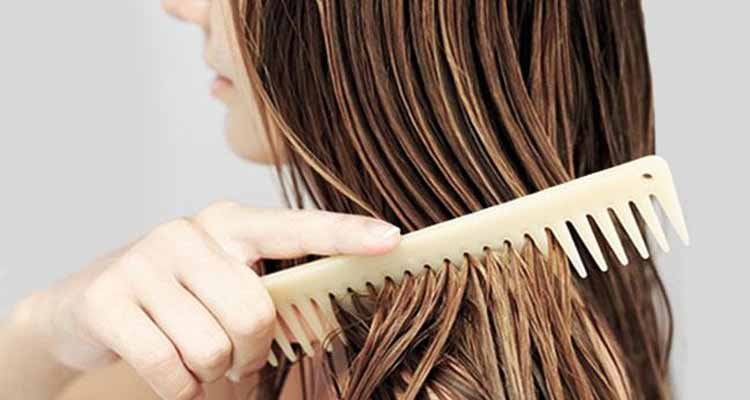 Say no to brushing wet hair