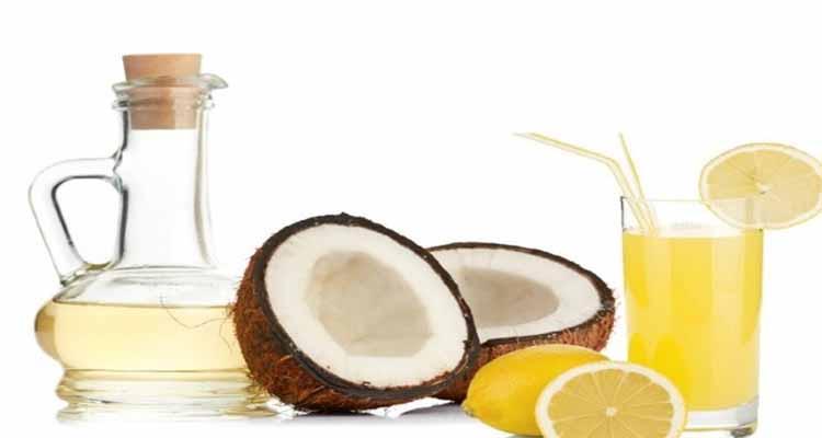 Lemon Juice in a Bowl of Coconut Oil