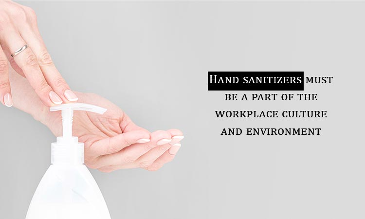 hand sanitizer in the workplace
