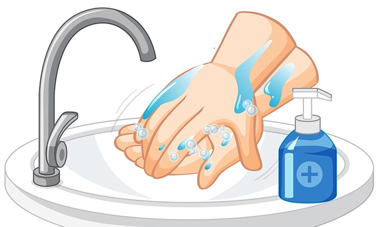 Washing Hands with Soap and Water vs. Hand Sanitizer