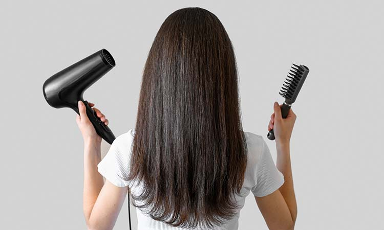 dry hair without damaging